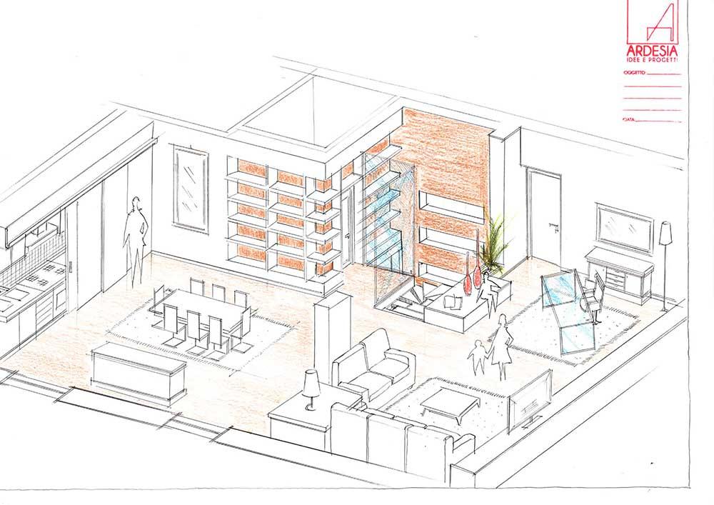 Molto Studio Ardesia » Progetto di ristrutturazione appartamento via  GS29