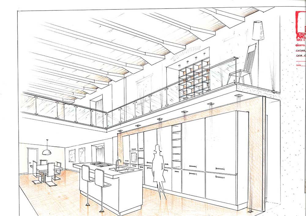 Studio ardesia progetto di ristrutturazione appartamento for Disegni di case in prospettiva